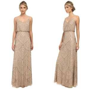 ADRIANNA PAPELL Art Deco Beaded Gown C:T/P